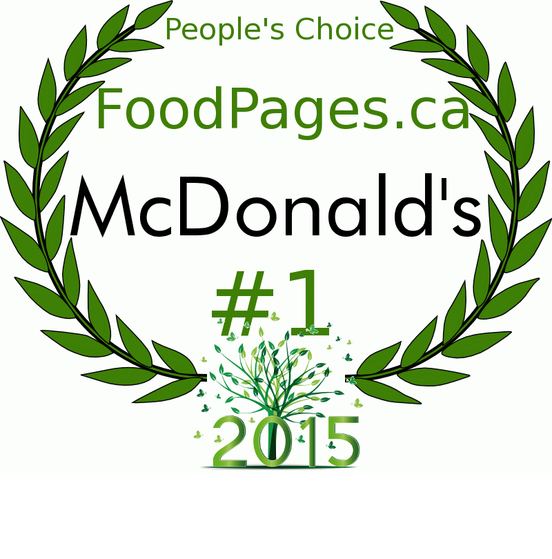 McDonald's FoodPages.ca 2015 Award Winner